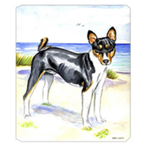 Carolines Treasures 7109MP 8 x 9.5 in. Tricolor Basenji at the Beach Mouse Pad Hot Pad Or Trivet