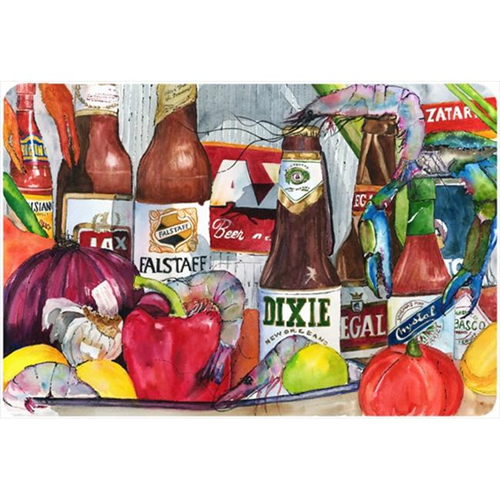 Carolines Treasures 1017MP 9.25 x 7.75 in. New Orleans Beers and Spices Mouse Pad Hot Pad Or Trivet
