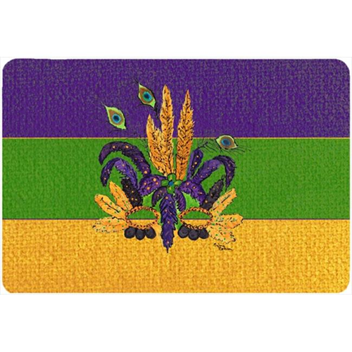 Carolines Treasures 8387MP 9.5 x 8 in. Mardi Gras Mask Mouse Pad Hot Pad Or Trivet