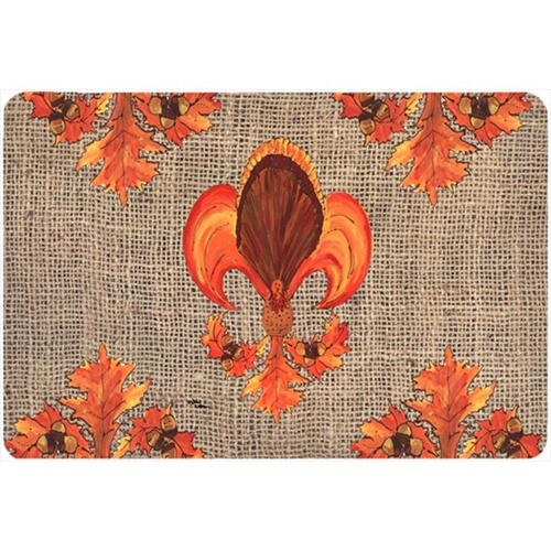 Carolines Treasures 8744MP 9.25 x 7.75 in. Thanksgiving Turkey Fleur de lis Mouse Pad Hot Pad Or Trivet