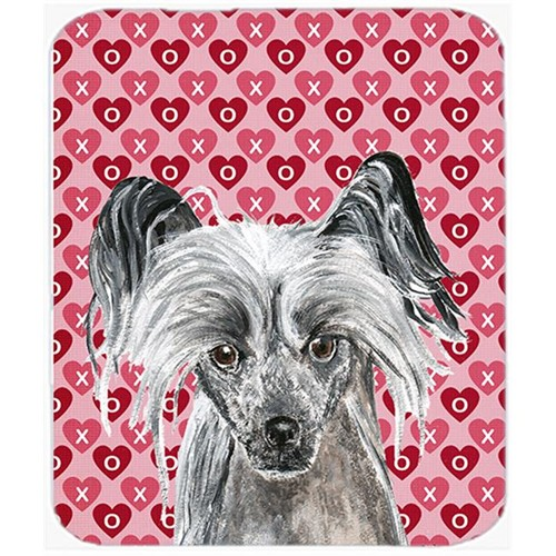 Carolines Treasures SC9564MP 7.75 x 9.25 in. Chinese Crested Valentines Love Mouse Pad Hot Pad or Trivet
