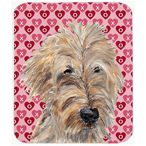 Carolines Treasures SC9563MP 7.75 x 9.25 in. Goldendoodle Valentines Love Mouse Pad Hot Pad or Trivet