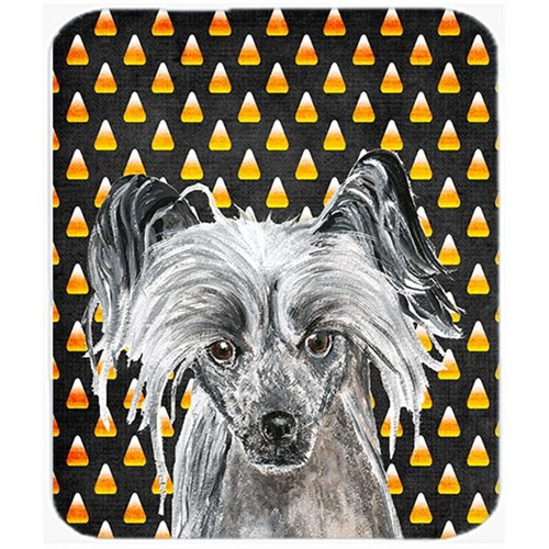 Carolines Treasures SC9536MP 7.75 x 9.25 In. Chinese Crested Halloween Candy Corn Mouse Pad Hot Pad or Trivet