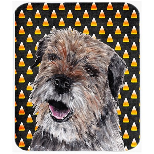 Carolines Treasures SC9529MP 7.75 x 9.25 In. Border Terrier Halloween Candy Corn Mouse Pad Hot Pad or Trivet