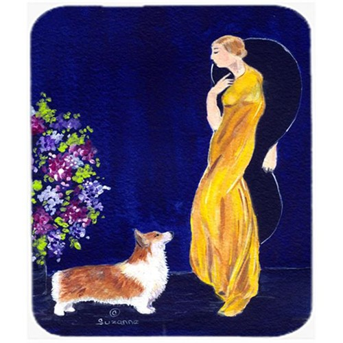 Carolines Treasures SS8546MP Lady With Her Corgi Mouse Pad Hot Pad Or Trivet