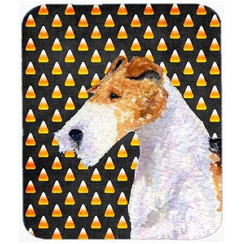 Carolines Treasures SS4271MP Fox Terrier Candy Corn Halloween Portrait Mouse Pad Hot Pad Or Trivet