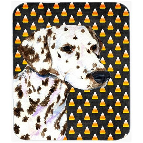 Carolines Treasures SS4262MP Dalmatian Candy Corn Halloween Portrait Mouse Pad Hot Pad Or Trivet