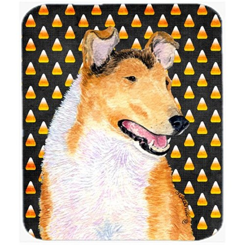 Carolines Treasures SS4263MP Collie Smooth Candy Corn Halloween Portrait Mouse Pad Hot Pad Or Trivet
