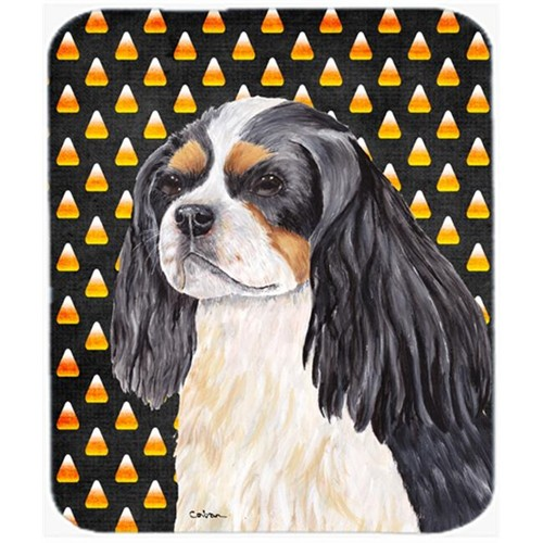 Carolines Treasures SC9192MP Cavalier Spaniel Tricolor Candy Corn Halloween Mouse Pad Hot Pad Or Trivet