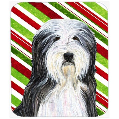 Carolines Treasures SS4566MP Bearded Collie Candy Cane Holiday Christmas Mouse Pad Hot Pad Or Trivet