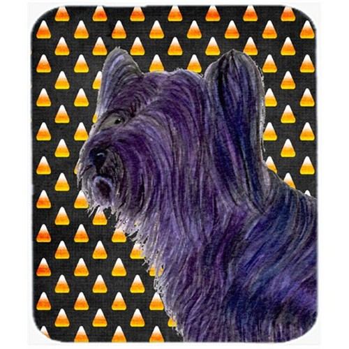 Carolines Treasures SS4256MP Skye Terrier Candy Corn Halloween Portrait Mouse Pad Hot Pad Or Trivet