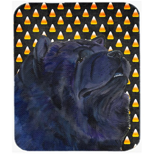 Carolines Treasures SS4294MP Chow Chow Candy Corn Halloween Portrait Mouse Pad Hot Pad Or Trivet