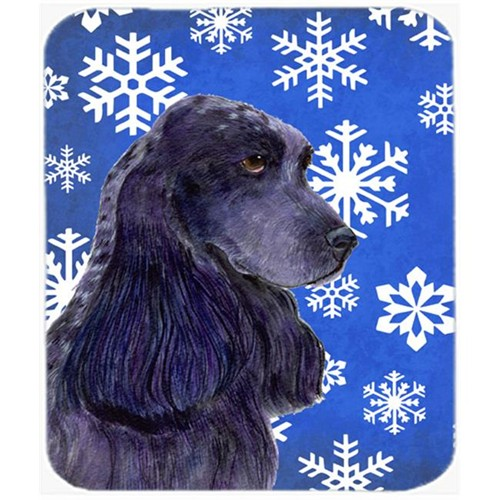 Carolines Treasures SS4609MP Cocker Spaniel Winter Snowflakes Holiday Mouse Pad Hot Pad Or Trivet