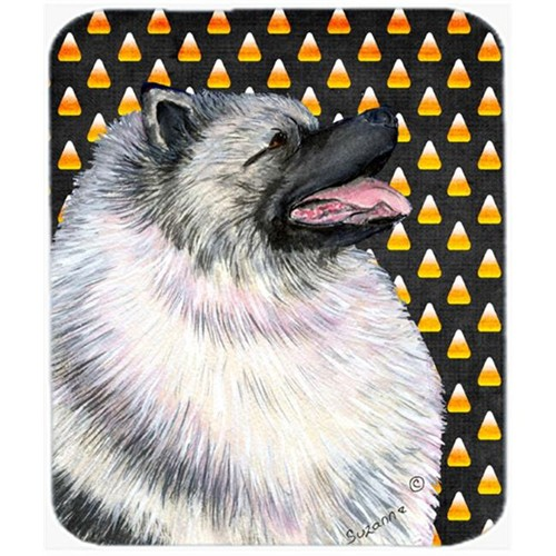 Carolines Treasures SS4282MP Keeshond Candy Corn Halloween Portrait Mouse Pad Hot Pad Or Trivet