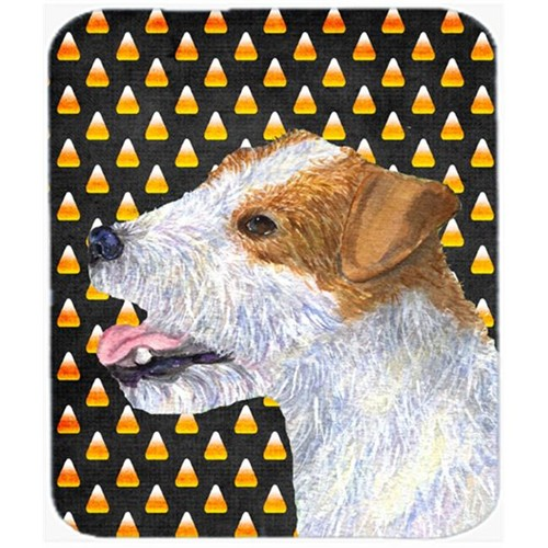 Carolines Treasures SS4297MP Jack Russell Terrier Candy Corn Halloween Portrait Mouse Pad Hot Pad Or Trivet