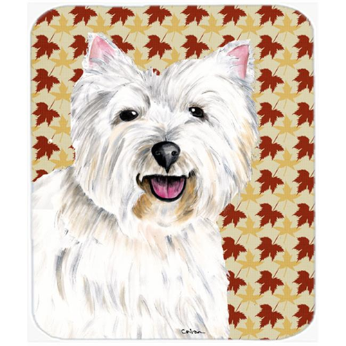 Carolines Treasures SC9210MP Westie Fall Leaves Portrait Mouse Pad Hot Pad or Trivet