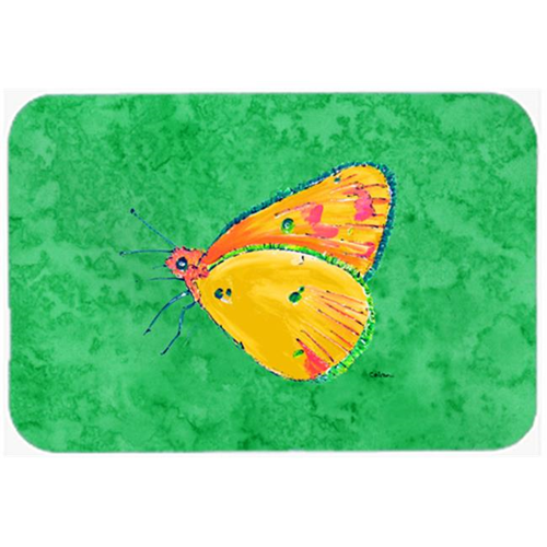 Carolines Treasures 8861MP Butterfly Orange on Green Mouse Pad Hot Pad or Trivet