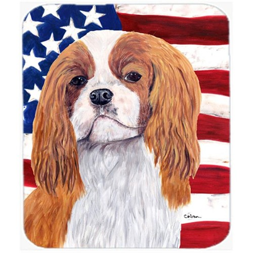 Carolines Treasures SC9115MP Usa American Flag With Cavalier Spaniel Mouse Pad Hot Pad Or Trivet