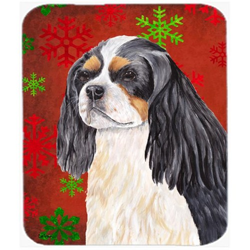 Carolines Treasures SC9431MP Cavalier Spaniel Red And Green Snowflakes Christmas Mouse Pad Hot Pad Trivet