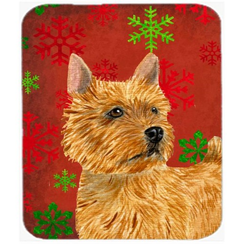 Carolines Treasures SS4706MP Norwich Terrier Snowflakes Holiday Christmas Mouse Pad Hot Pad or Trivet