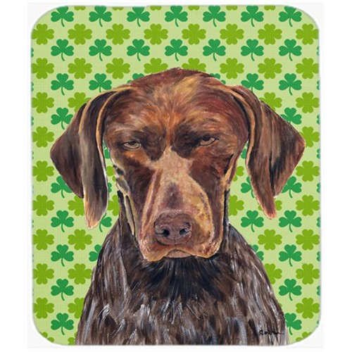 Carolines Treasures SC9315MP German Shorthaired Pointer St. Patricks Shamrock Mouse Pad Hot Pad or Trivet