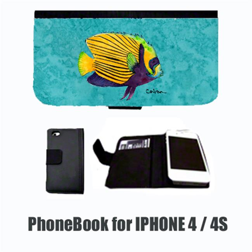 Carolines Treasures 8674-NBIP4 Tropical Fish Cell Phonebook Cell Phone case Cover for IPHONE 4 or 4S