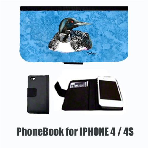 Carolines Treasures 8717-NBIP4 Bird Loon Cell Phonebook Cell Phone case Cover for IPHONE 4 or 4S