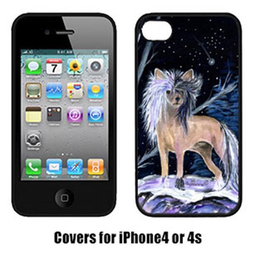 Carolines Treasures SS8390IP4 Starry Night Chinese Crested Cell Phone Cover Iphone4