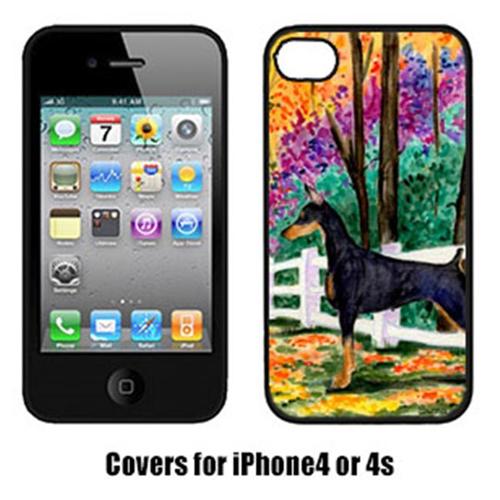 Carolines Treasures SS8428IP4 Doberman Cell Phone Cover Iphone 4