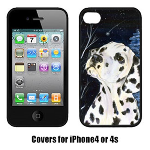 Carolines Treasures SS8370IP4 Starry Night Dalmatian Cell Phone cover IPhone 4