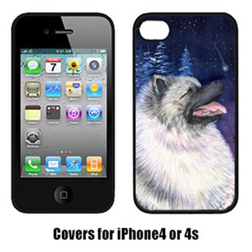 Carolines Treasures SS8350IP4 Starry Night Keeshond Cell Phone cover IPhone 4