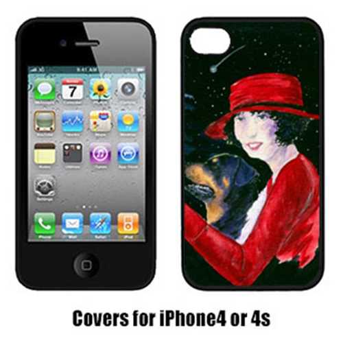 Carolines Treasures SS8551IP4 Lady Driving With Her Rottweiler Iphone4 Cover