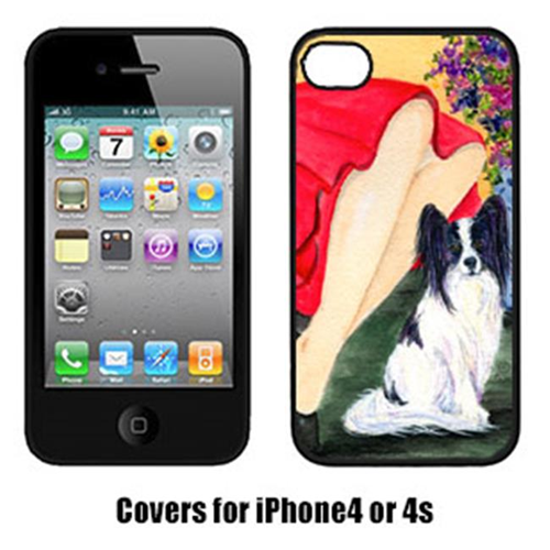 Carolines Treasures SS8523IP4 Lady With Her Papillon Iphone4 Cover
