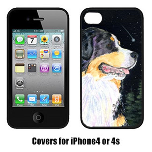 Carolines Treasures SS8512IP4 Starry Night Bernese Mountain Dog Iphone4 Cover