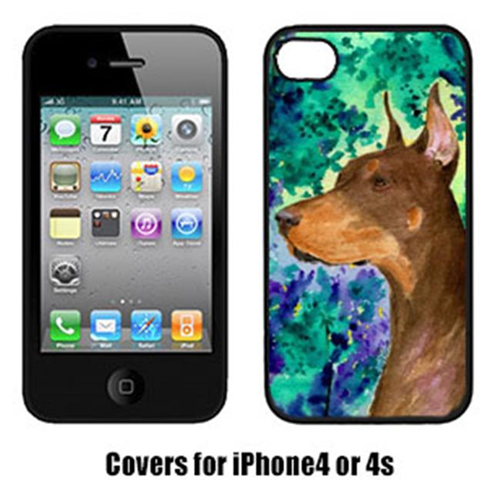 Carolines Treasures SS8457IP4 Doberman Cell Phone Cover Iphone 4