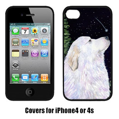 Carolines Treasures SS8470IP4 Starry Night Great Pyrenees Cell Phone Cover Iphone 4