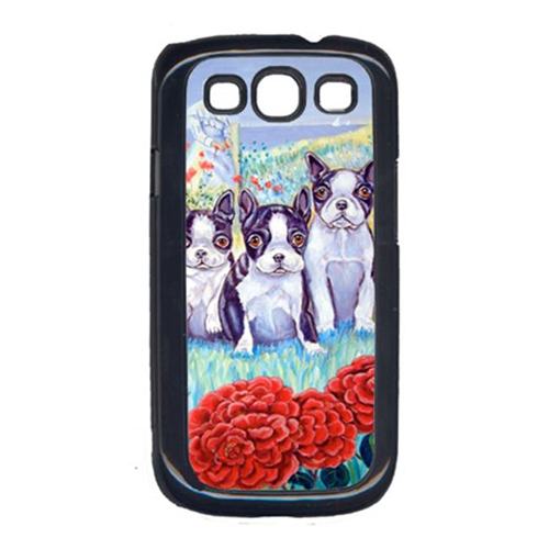 Carolines Treasures 7005GALAXYSIII Boston Terrier Three in a Row Cell Phone Cover Galaxy S111
