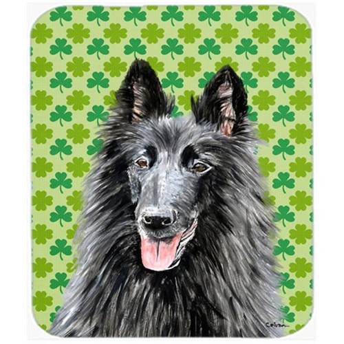 Carolines Treasures SC9318MP Belgian Sheepdog St. Patricks Day Shamrock Mouse Pad Hot Pad or Trivet
