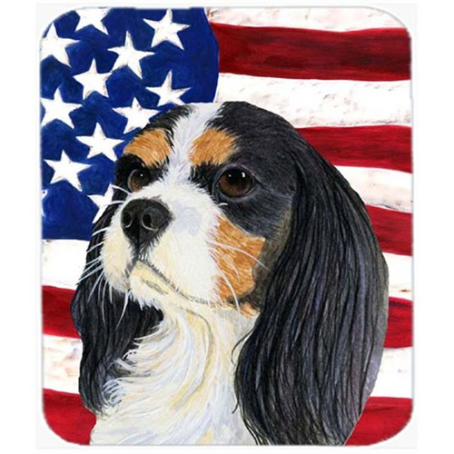 Carolines Treasures SS4248MP Usa American Flag With Cavalier Spaniel Mouse Pad Hot Pad Or Trivet