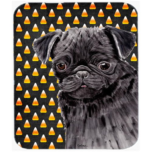 Carolines Treasures SC9176MP Pug Candy Corn Halloween Portrait Mouse Pad Hot Pad Or Trivet