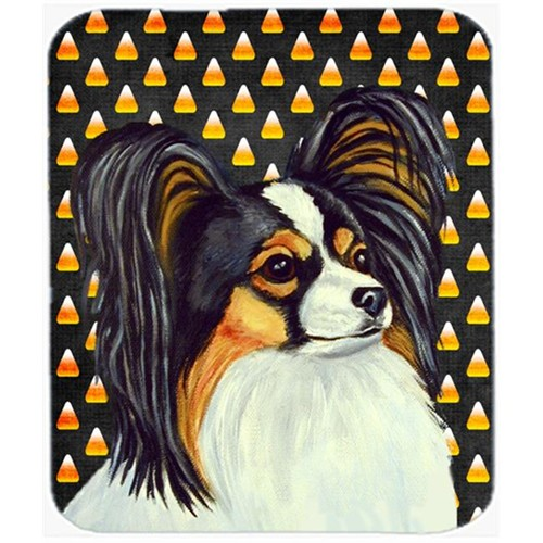 Carolines Treasures LH9040MP Papillon Candy Corn Halloween Portrait Mouse Pad Hot Pad Or Trivet