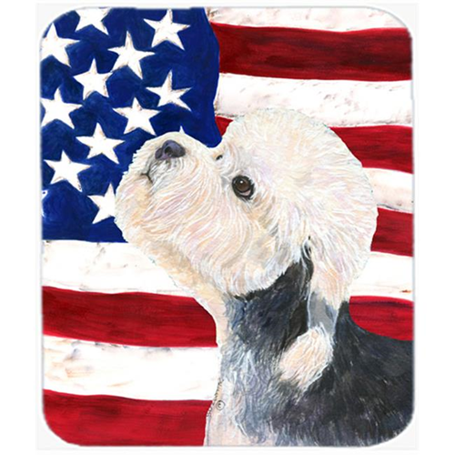 Carolines Treasures SS4030MP Usa American Flag With Dandie Dinmont Terrier Mouse Pad Hot Pad Or Trivet