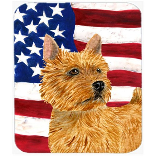 Carolines Treasures SS4026MP Usa American Flag With Norwich Terrier Mouse Pad Hot Pad Or Trivet