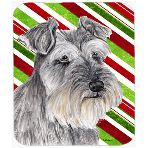 Carolines Treasures SC9353MP Schnauzer Candy Cane Holiday Christmas Mouse Pad Hot Pad or Trivet