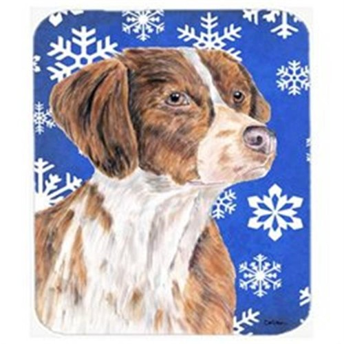 Carolines Treasures SC9389MP Brittany Winter Snowflakes Holiday Mouse Pad Hot Pad Or Trivet