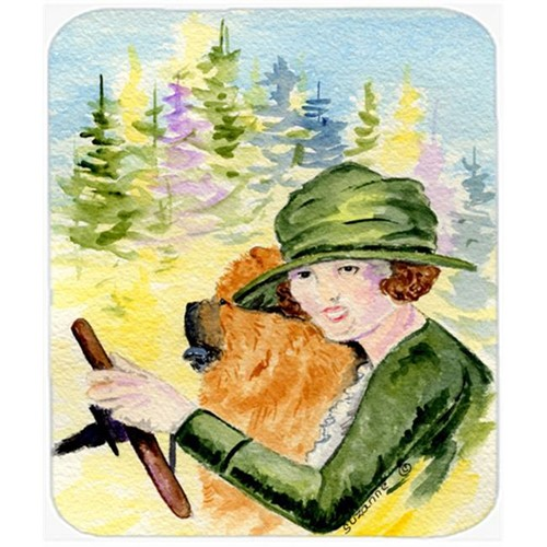 Carolines Treasures SS8527MP Lady Driving With Her Chow Chow Mouse Pad Hot Pad or Trivet