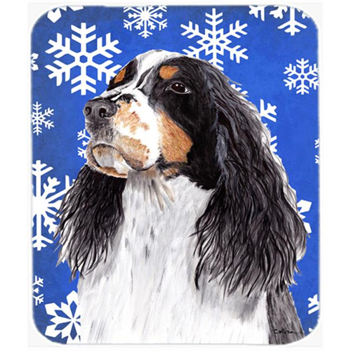 Carolines Treasures SC9361MP Springer Spaniel Winter Snowflakes Holiday Mouse Pad Hot Pad or Trivet