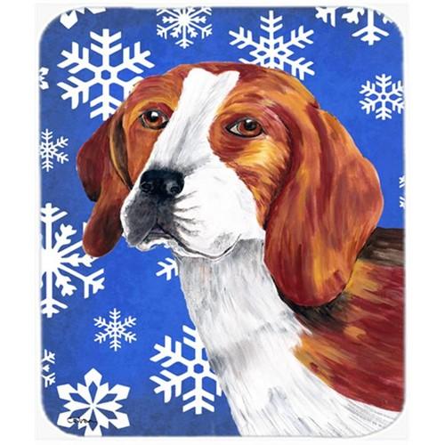 Carolines Treasures SC9369MP Beagle Winter Snowflakes Holiday Mouse Pad Hot Pad or Trivet