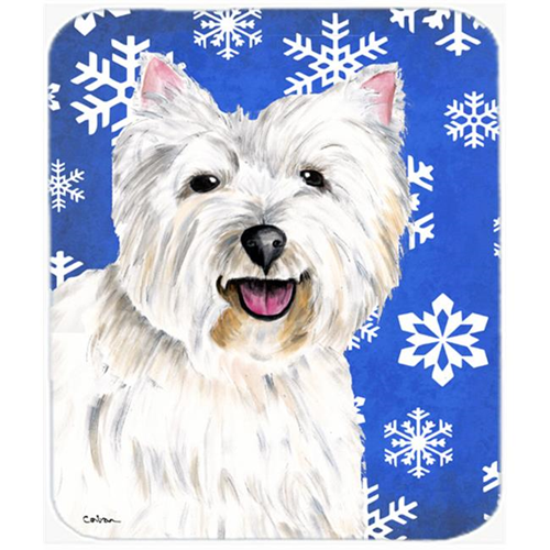 Carolines Treasures SC9370MP Westie Winter Snowflakes Holiday Mouse Pad Hot Pad or Trivet