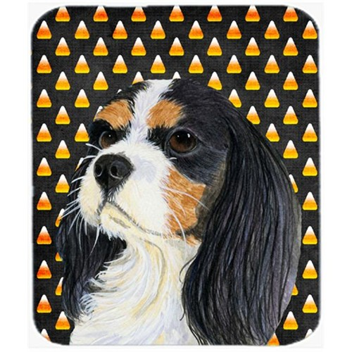 Carolines Treasures LH9065MP Cavalier Spaniel Tricolor Candy Corn Halloween Mouse Pad Hot Pad or Trivet
